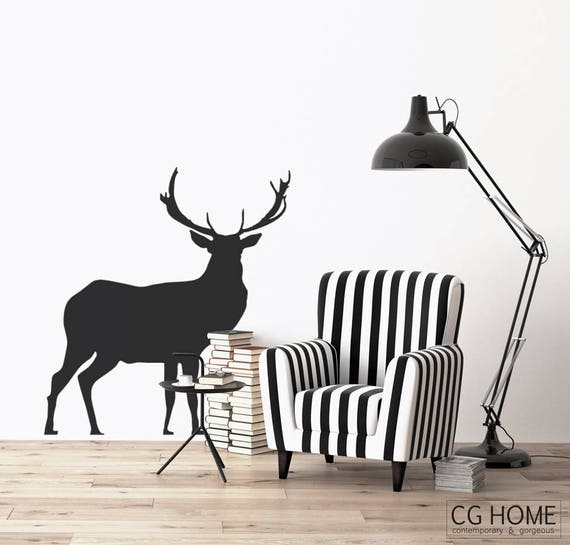 Woodland Stag Wall Decal Forest Animals Deer Wallsticker Buck For kids Customized Nursery Decoration deer vinyl decoration Wall Art