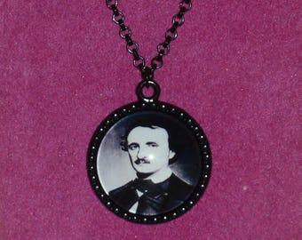 Edgar Allan Poe Inspired Black Cameo Necklace