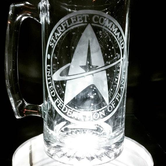 Star trek engraved mug