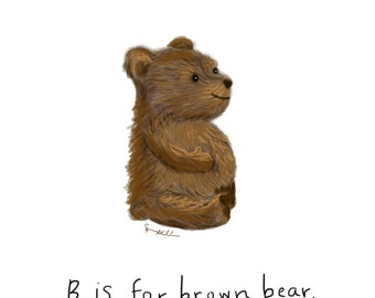 B is for Brown Bear Print
