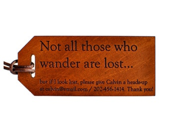 Not All Those Who Wander Are Lost Luggage Tag, Fantasy Fan Gift, Lord of the Rings Gift, JRR Tolkien Quote, Lord of the Rings Fan,  LOTR