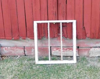 vintage 3 pane window frameantique distressed home decorwedding decorcraftsno glass - Distressed Window Frame