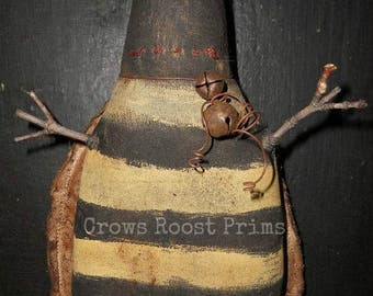 Primitive 1  Summer Barney Bee doll  ornament by Crows Roost Prims