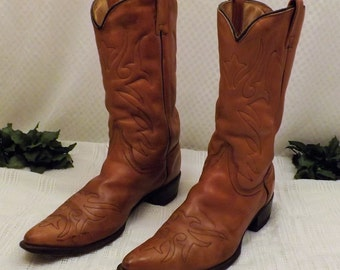 80s Vintage Walker Leather Cowboy Boots Size 12 D