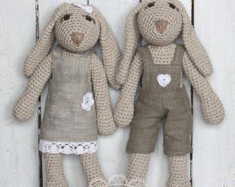 Amigurumi, bunny, rabbit, stuffed toy, crochet plush animal,