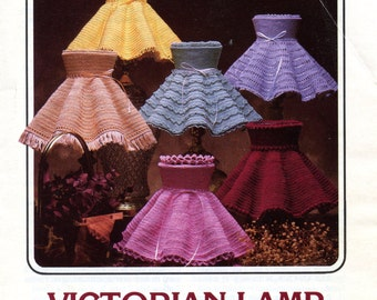 Victorian Lamp Shades crochet Pattern from Annie's Attic | Craft Leaflet