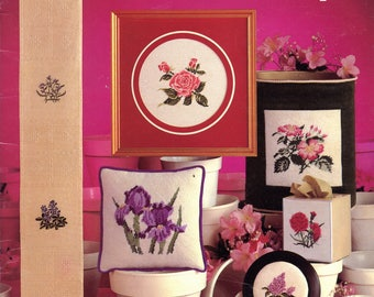 State Flowers charted for cross stitch & needlepoint from Leisure Arts (Leaflet 178) | Craft Book