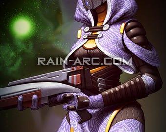 Tali'Zorah (Tali) from Mass Effect 12x18 Art Print