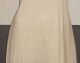 Vintage Cream Off White Nylon Full Slip 38 M to L Deadstock NOS Mint with tag Lace Trim