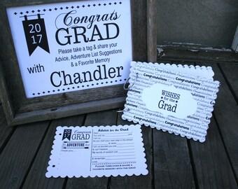 READY TO SHIP-Graduation Party Idea, Grad Party Idea,  Grad Party Decor, Graduation Party Decorations, Wishes for the Grad, -scgrad 103