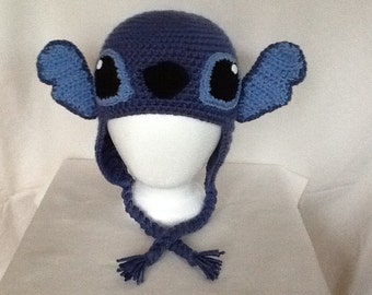 Stitch Inspired Ear Flapper Hat