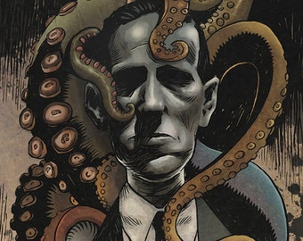Lovecraft & Friends - Cthulhu Mythos colour art print