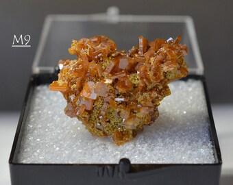 PERFECT, Showy, Mirror Wulfenite Crystals Miniature, from Los Lamentos, Mexico - Ex Brandt Collection