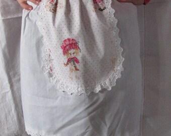 Vintage White Half Apron - Lace Edged Half Apron - Hostess Apron - Excellent Condition - Vintage Tea Party