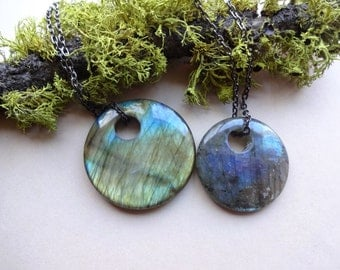 Labradorite Pendant - Third Eye Chakra - pendant necklaces - Gemstone pendants-best seller