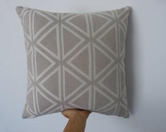 Neutral geometric print 50x50cm cushion with eco friendly cushion insert