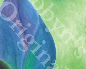 Blue Lotus Blossom Art Print
