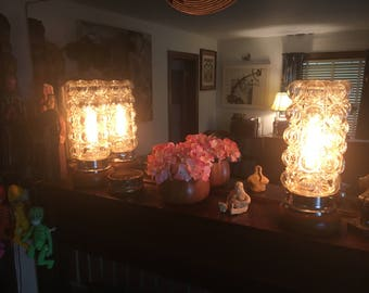 Midcentury Modern Helena Tynell Bubble Lamps PAIR