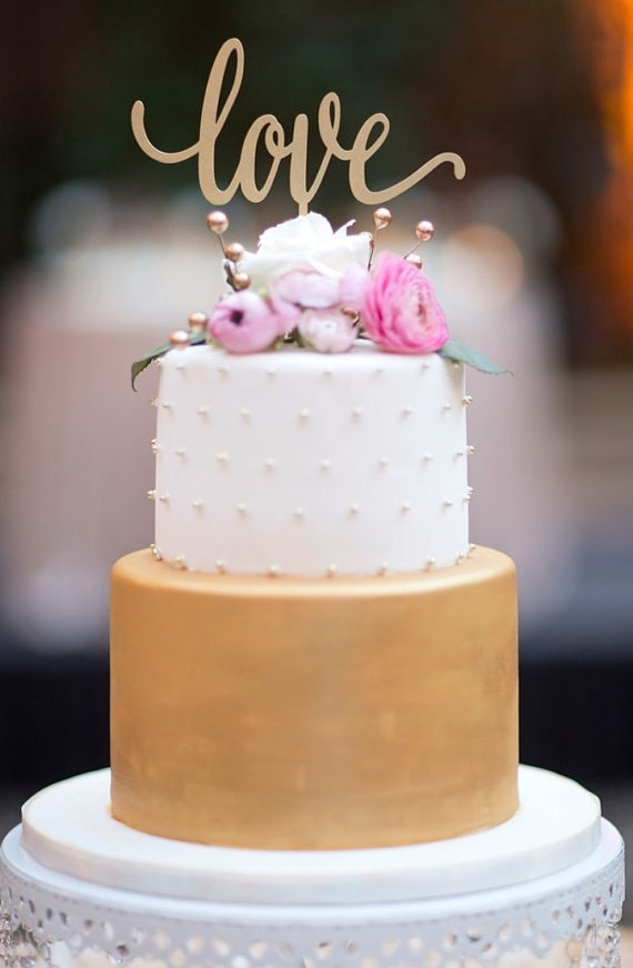 rose gold love wedding cake topper cake topper wedding cake topper cake topper for 19279