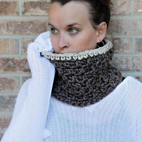 "PDF Crochet Pattern ~The ""Jamie"" Winter Chunky Cowl Crochet Pattern - 2 SIZES"