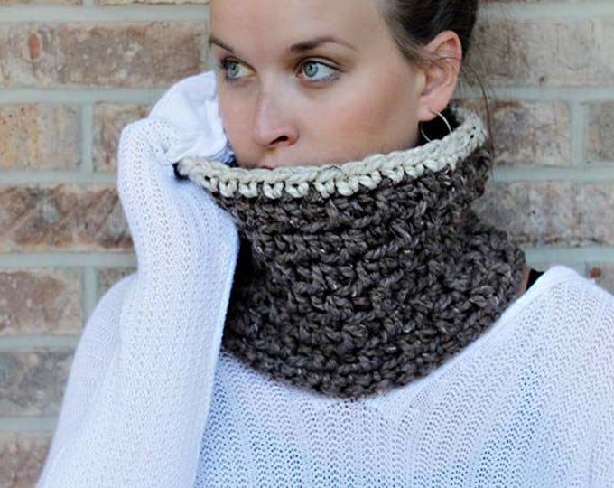 "PDF Crochet Pattern ~The ""Jamie"" Winter Chunky Cowl Crochet Pattern - 2 SIZES"