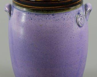 Pen and Pencil Holder in Purple Glaze