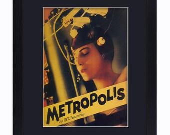 Metropolis - Fritz Lang - Mounted & Framed Vintage Print