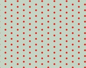 Mint & Red Christmas Dot Quilt Fabric, Studio E 3312 11 Joy Peace Love by Lucie Crovatto, Cotton Dot Christmas Fabric Yardage