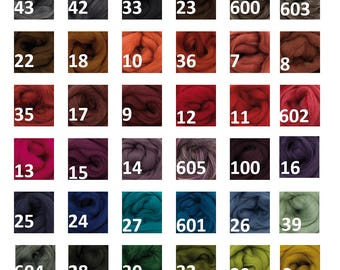 Polish Merino Comed Top 48 Colours