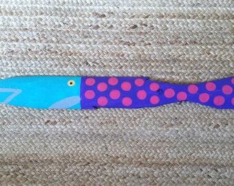 Picket Fence Fish - Pink Polka Dots