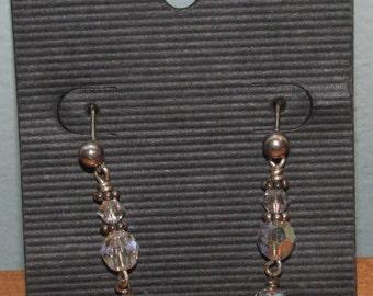 Clear Beaded Earrings