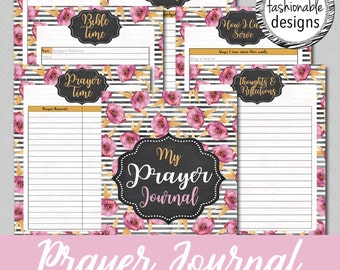 Printable Prayer Journal, Instant Download, 8.5x11 and A5