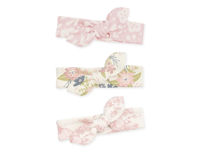 SPECIAL! Newborn Headband Bow, Baby Easter Headband, Baby Headwrap, Baby Girl Bow Headband, Baby Girl Bow, Baby Knot Headband, Pink Floral