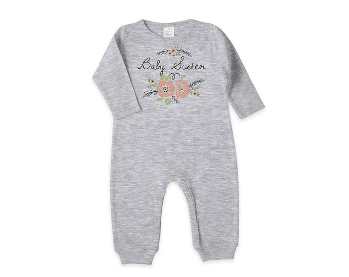 Newborn Girl Coming Home Outfit, Newborn Girl Outfit, Baby Girl Romper, Baby Sister Outfit, Baby Girl Floral Romper, Tesa Babe RP81HG-T984-1