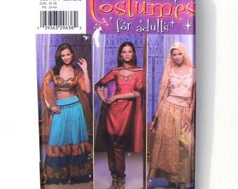 Simplicity Misses Arabian/Sari Costumes Sewing Pattern #4249 - UNCUT - Sizes 6+8+10+12 (Breast 32+34+36+38)
