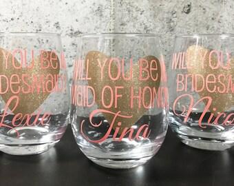 Bridesmaid Proposal Wine Glasses, Asking Bridesmaid, Bridesmaid Proposal, My turn to pop the question