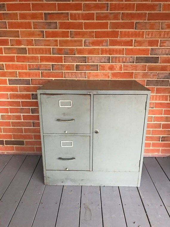 Vintage Tower Sears Roebuck And Co Steel File Storage Cabinet