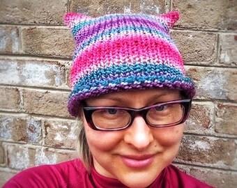 Pink Pussy Hat Women's March Hat Unique Handknit Winter Fashion Accessories