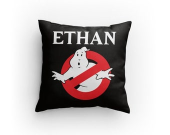 "Ghostbusters Custom 14"" x 14"" Pillow - Personalize with Name & Colors! Perfect Gift for Any Ghostbusters Fan! Great Christmas Gift Idea!"