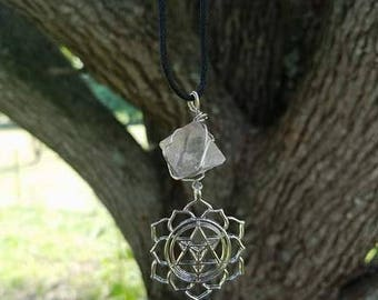Wrapped Fluorite Merkabah Necklace