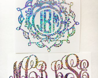 Glitter Monogram Decals