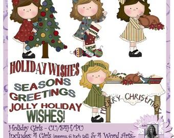 Navidad chicas, niñas, niños, Navidad, invierno, vacaciones, regalo de apertura, bebés en pijamas, la mañana de Navidad, chicas, chicas, Navidad