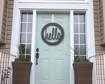 Hello door wreath - choose your color