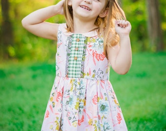 Girls Summer Dress - Toddlers Summer Dress - Girls Dress - Toddlers Dress - Girls Floral Dress - Toddlers Floral Dress