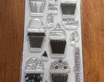 Cupcake clear rubber stamp