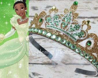 Tiana Crown,Princess Tiana Crown,Princess Tiara Headband,Tiana Princess  Crystal Crown,Tiana Birtyday Crown,The Princess and the Frog Crown