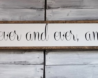 Forever and ever, amen | Sign | Farmhouse Sign | Wood Sign | Farmhouse | Rustic Decor | Rustic Sign | Rustic | Framed Sign | Farmhouse Decor