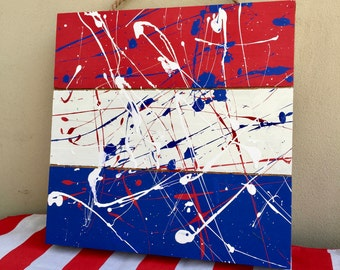 Red, white, and Blue Wall Hanging / Wall Decor