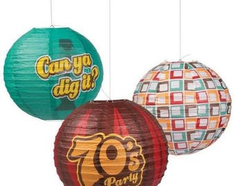 6/ My 70's Party Lanterns / Party decorations / 70's theme party / party lanterns / 70's