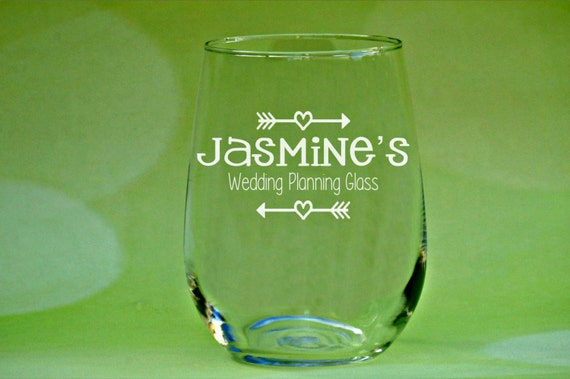 Gifts For Wedding Planning: Wedding Planning Glass Wedding Planning Wine Bride Gift